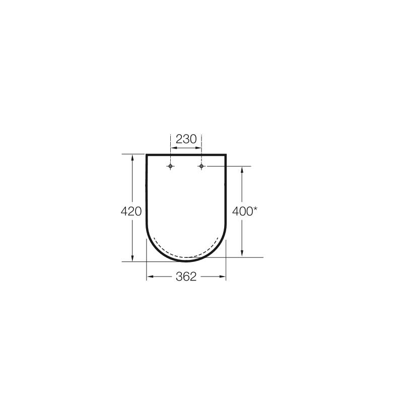 Tapa inodoro meridian n compacto blanco caida amortiguada for Inodoro meridian compacto